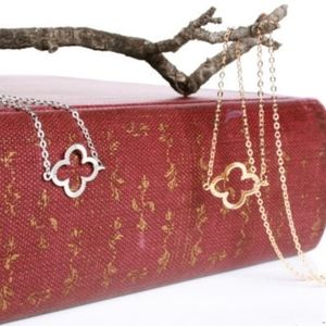 Dainty Lucky 4 Leaf Clover Silver Bracelet